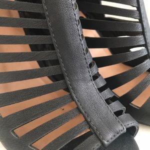 D - Black Gladiator Heels (7 1/2)